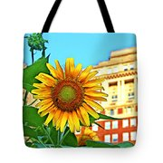 Sunflower In The City Tote Bag