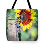 Sunflower On A Stick Tote Bag