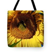 Sunflower Up Close Tote Bag