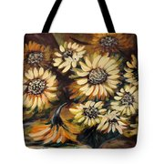 Sunflowers 12 Square Painting Tote Bag