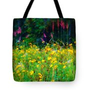 Sunflowers And Grasses Tote Bag