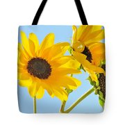 Sunflowers Sky Tote Bag