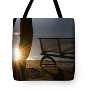 Sunlight And Bench Tote Bag