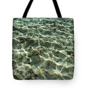 Sunlight Creates Reflective Patterns Tote Bag