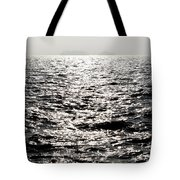 Sunlight On A Lake With Islands Tote Bag
