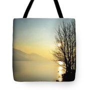 Sunlight On An Alpine Lake Tote Bag