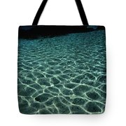 Sunlight Reflected In The Water Tote Bag