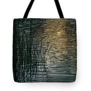Sunlight Reflects On Rippled Water Tote Bag