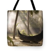 Sunlight Shining On A Canoe Tote Bag