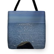 Sunlight Sparkling On The Water At Sturgeon Point Tote Bag