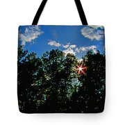 Sunlight Thrugh The Treetops Tote Bag