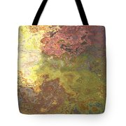 Sunlit Bricks Abstract Tote Bag