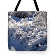 Sunlit Snowy Sanctuary Tote Bag