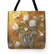 Sunny Carnations In A Vase Tote Bag