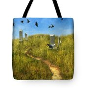 Sunny Graveyard With Birds Tote Bag