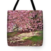 Sunny Patch Under The Cherry Trees Tote Bag