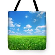Sunny Spring Landscape Tote Bag
