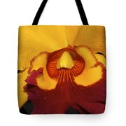 Sunny Yellow Orchid Tote Bag
