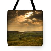 Sunrays Through Clouds, North Tote Bag
