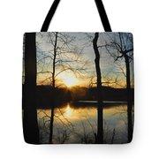 Sunrise Along The Delaware River Tote Bag