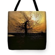 Sunrise And Tree Tote Bag