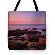 Sunrise At Otter Point Tote Bag