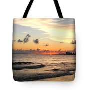 Sunrise At Sea 4 Tote Bag