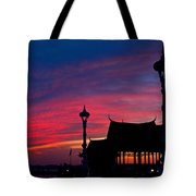 Sunrise At Sisowath Quay. Tote Bag