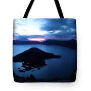 Sunrise At The Crater Tote Bag