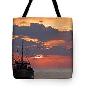 Sunrise In Crete Tote Bag