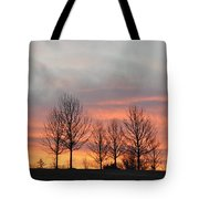 Sunrise On The Hill Tote Bag