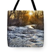 Sunrise On The St Vrain River Tote Bag
