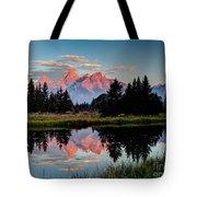 Sunrise On The Tetons Tote Bag