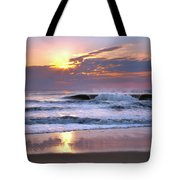 Sunrise On The Waves Tote Bag