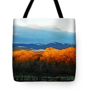 Sunrise On Trees Tote Bag