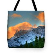 Sunrise Over Crowsnest Pass, Border Tote Bag