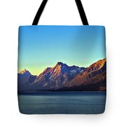 Sunrise Over Jackson Lake Tote Bag