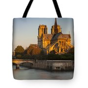 Sunrise Over Notre Dame Tote Bag