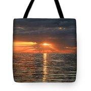 Sunrise Over Ripples Tote Bag