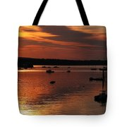 Sunrise Over Southwest Harbor Tote Bag