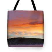 Sunrise Over Teslin Lake, Yukon Tote Bag