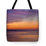 Sunrise Over The Mekong. Tote Bag