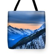 Sunrise Over The Rockies Tote Bag
