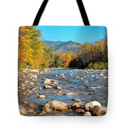 Sunrise Over The Saco Vertical Tote Bag by Geoffrey Bolte
