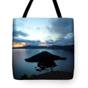 Sunrise Over The Wizard Tote Bag