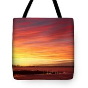 Sunrise Over Union Reservoir In Longmont Colorado Boulder County Tote Bag