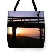Sunrise Pier Ventura Tote Bag by Henrik Lehnerer
