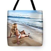 Sunrise Woman Tote Bag
