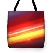 Sunset Above The Clouds Tote Bag