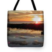 Sunset And Tidal Pool Cape Charles Va Tote Bag